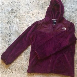 Girls Purple North Face Jacket